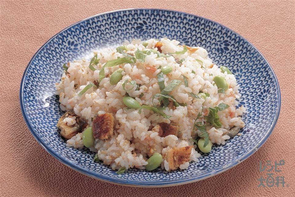 枝豆入り梅ずし(ご飯+梅干しを使ったレシピ)
