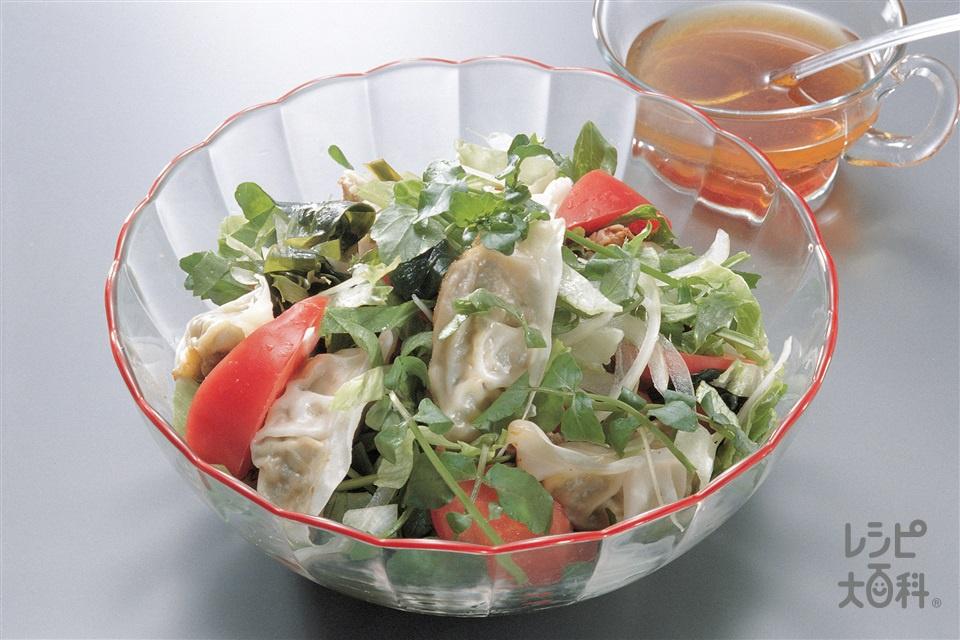 ギョーザサラダ(レタス+トマトを使ったレシピ)