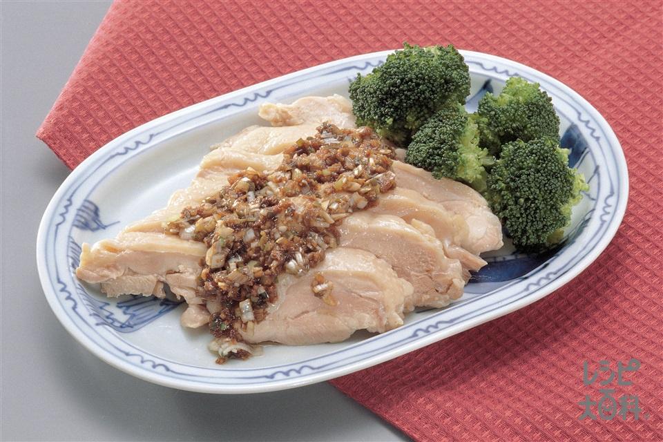 鶏肉の花椒ソースかけ(鶏もも肉(皮なし)+ブロッコリーを使ったレシピ)