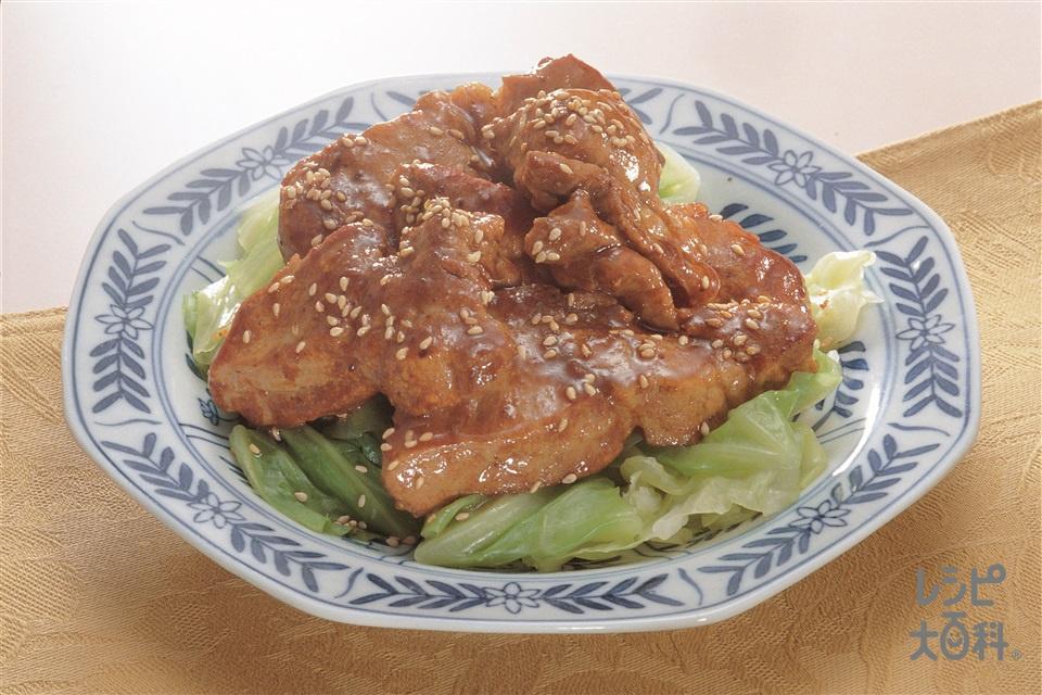 豚肉の照り焼き風(豚肩ロース肉+キャベツを使ったレシピ)