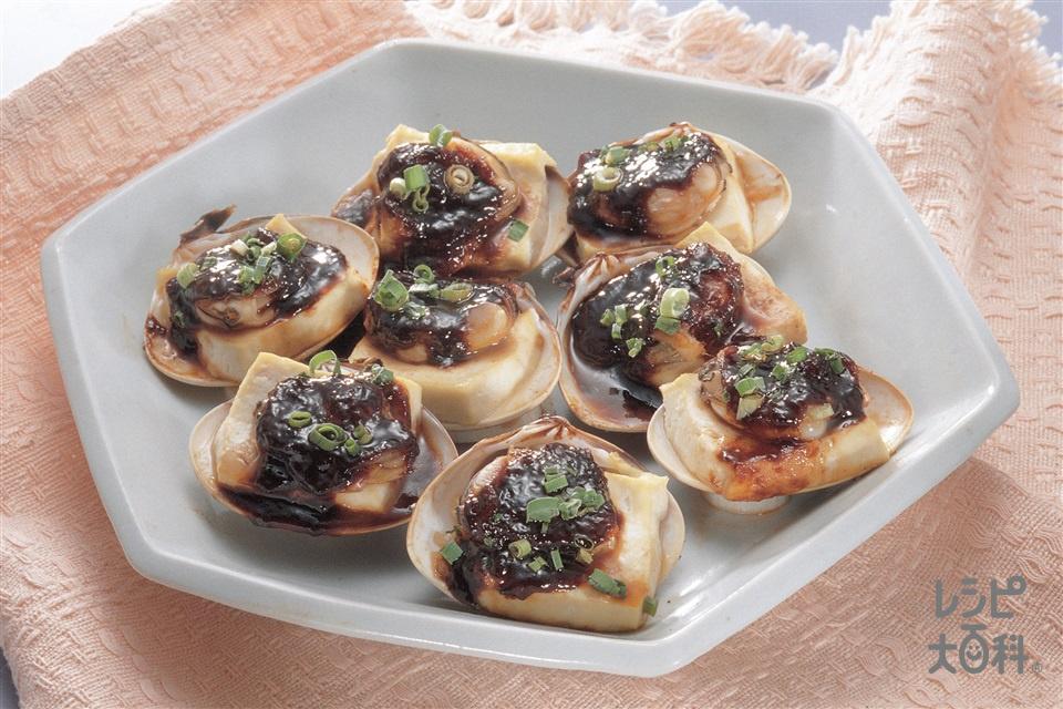 はまぐりの甜麺醤焼き(はまぐり+絹ごし豆腐を使ったレシピ)