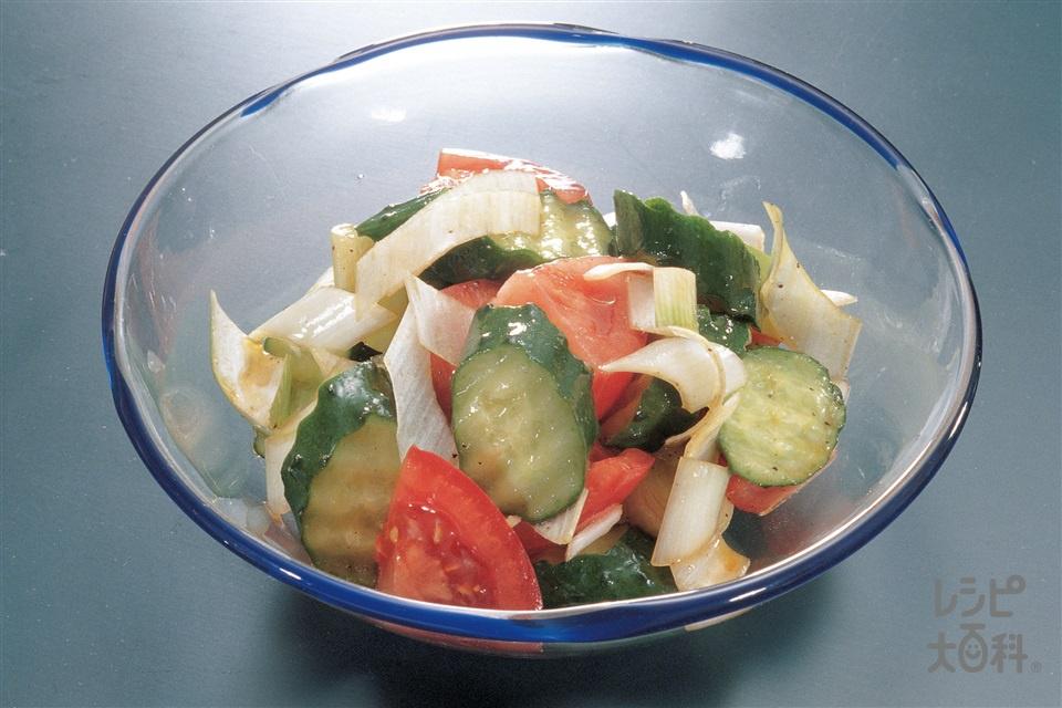 トマトときゅうりの中国サラダ(トマト+きゅうりを使ったレシピ)