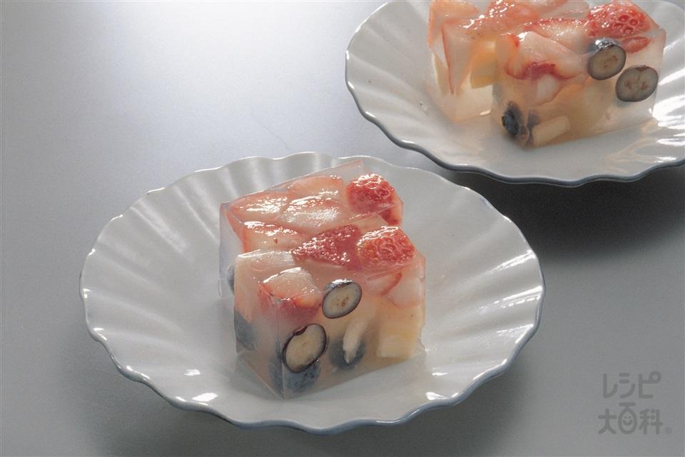 フルーツ寒天(バナナ+りんごを使ったレシピ)