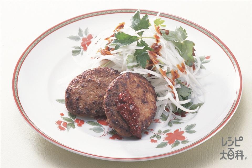 中国風ハンバーグ(合いびき肉+A酒を使ったレシピ)