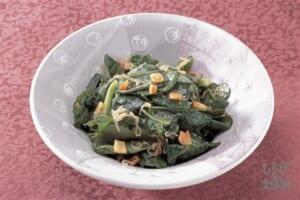 小松菜としらす干しのサラダ