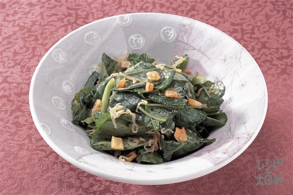 小松菜としらす干しのサラダ(小松菜+にんにくを使ったレシピ)