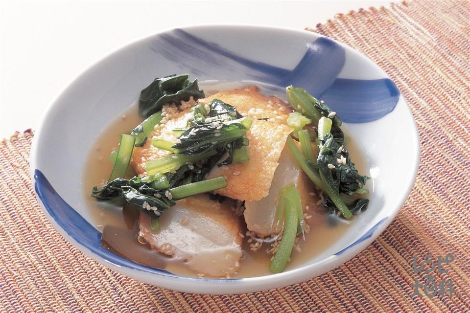 小松菜とさつま揚げの煮びたし(小松菜+さつま揚げを使ったレシピ)