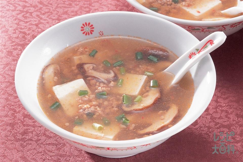 中国風辛いスープ(A豚ひき肉+A酒を使ったレシピ)