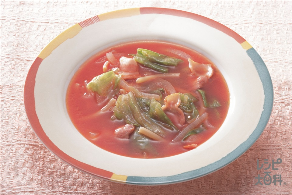 トマトスープ(玉ねぎ+トマトジュースを使ったレシピ)