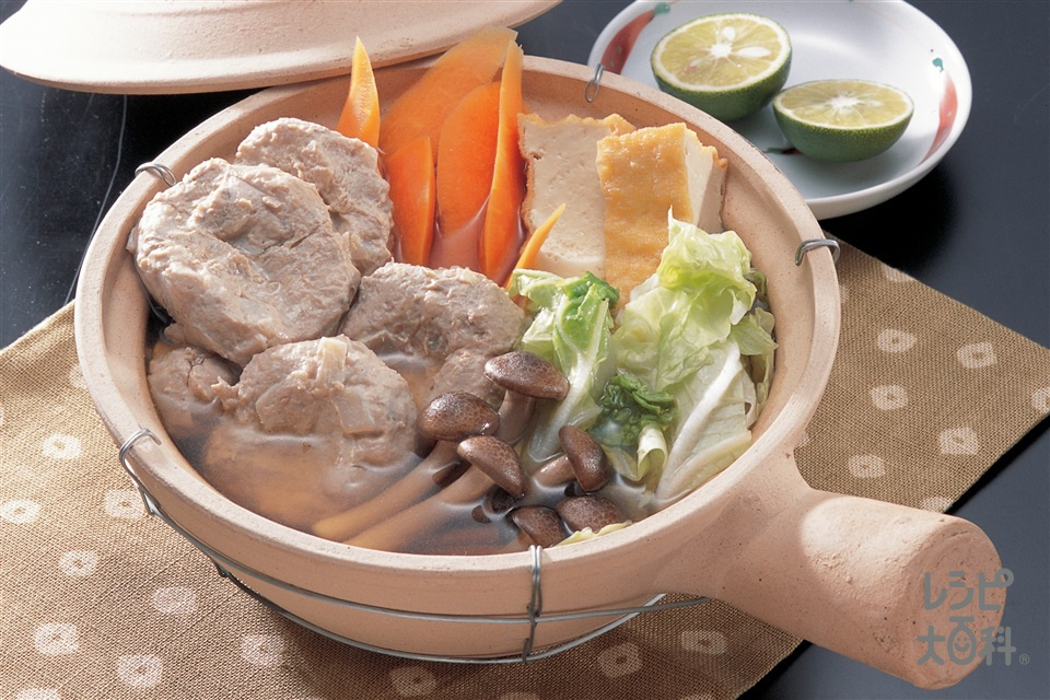 つみれ鍋(いわしのすり身+白菜を使ったレシピ)