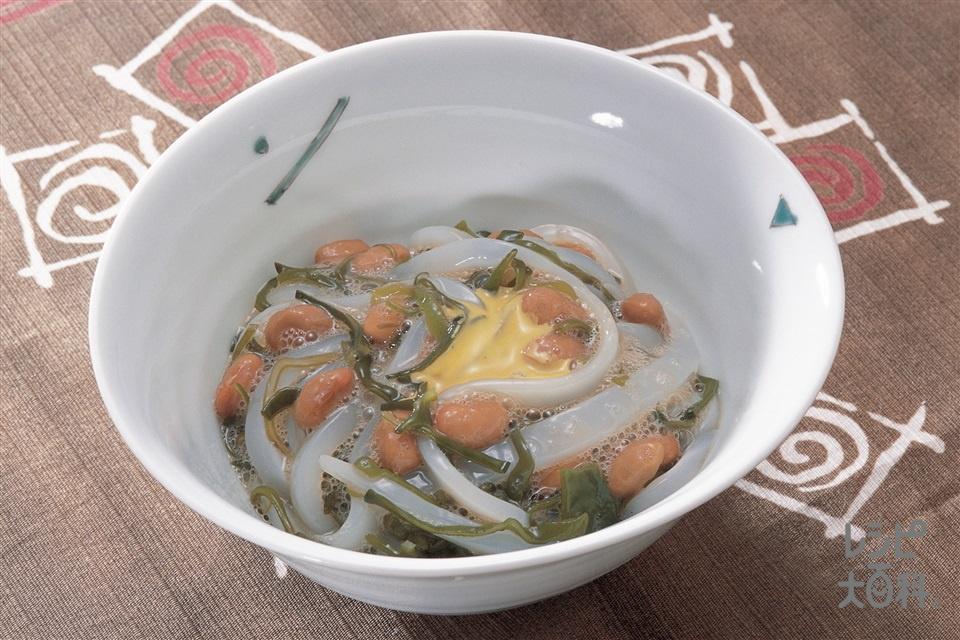 混ぜ納豆(納豆+いかを使ったレシピ)