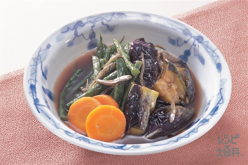 野菜の揚げ煮(なす+にんじんを使ったレシピ)