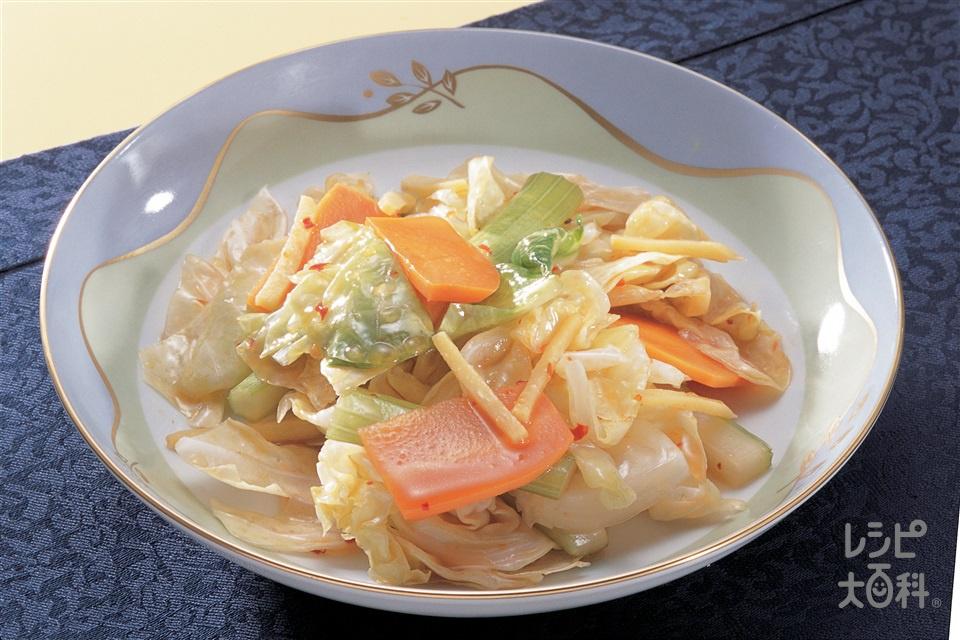 野菜の甘酢漬け(キャベツ+にんじんを使ったレシピ)