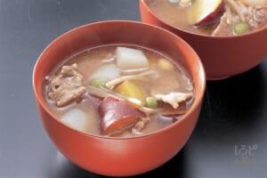 豚汁(こんにゃく+さつまいもを使ったレシピ)