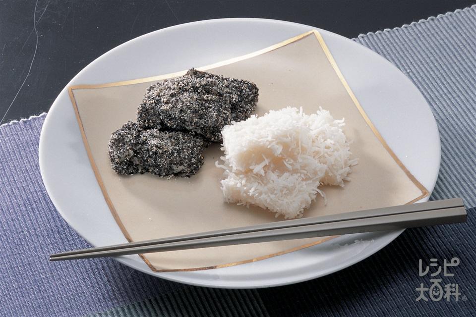 ゆで餅(切り餅+すり黒ごまを使ったレシピ)