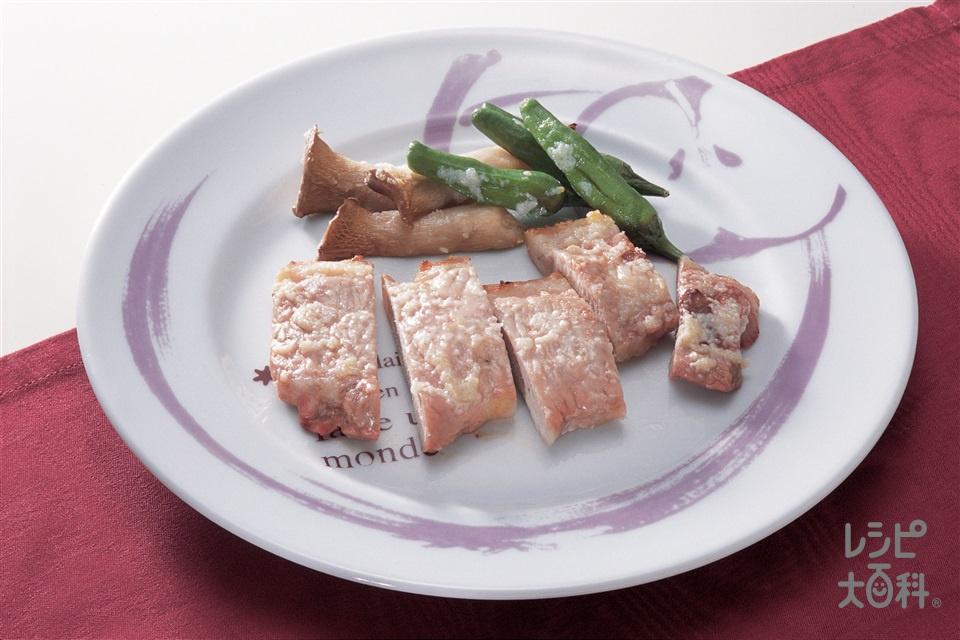 豚肉のガーリック・グリル(豚ロース肉+エリンギを使ったレシピ)