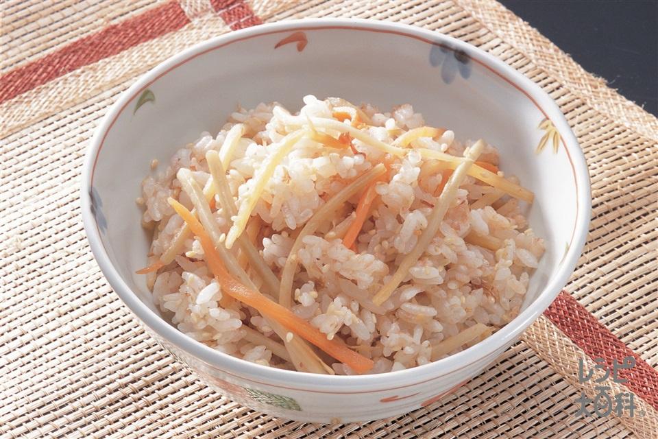 きんぴら混ぜご飯(きんぴら用カット野菜+温かいご飯を使ったレシピ)