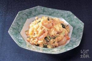 えび卵炒飯(ご飯+卵を使ったレシピ)