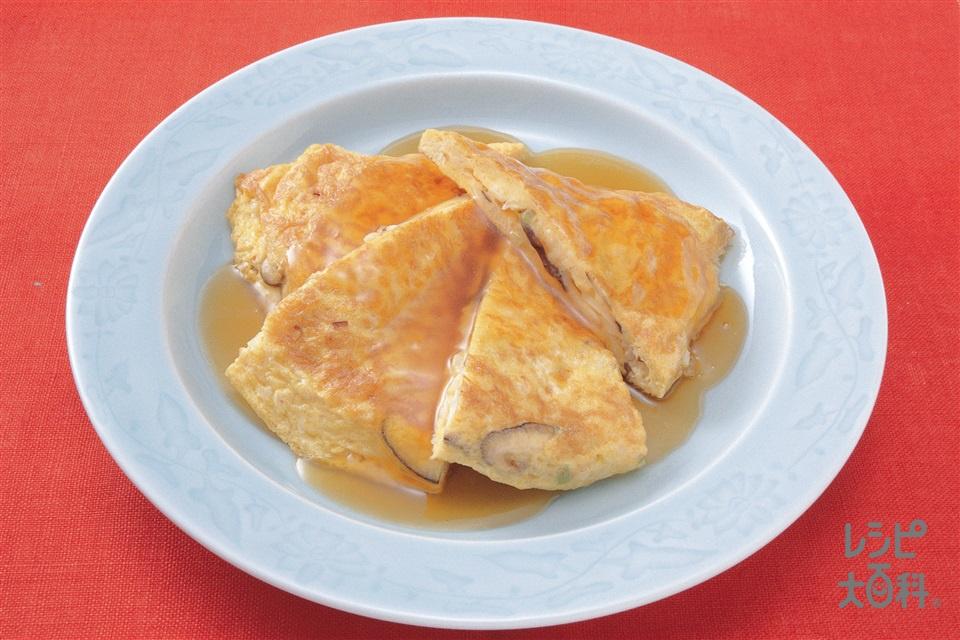 簡単かに玉(卵+「瀬戸のほんじお」焼き塩を使ったレシピ)