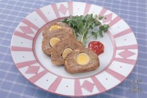 お手軽ミートローフ(合いびき肉+マッシュルーム缶を使ったレシピ)