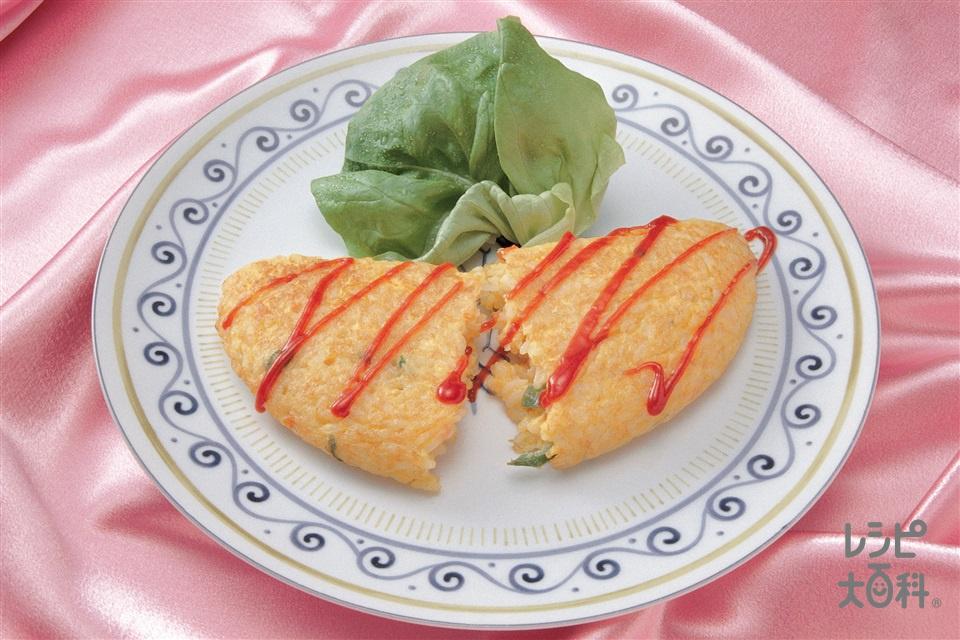 混ぜオム(味の素冷凍食品KK「具だくさんエビピラフ」+卵を使ったレシピ)