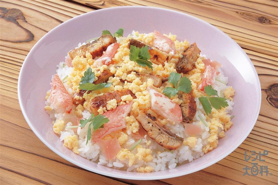 混ぜ寿司(うなぎのかば焼き+温かいご飯を使ったレシピ)