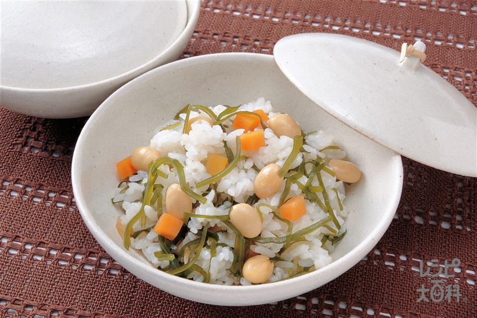 ヘルシー混ぜご飯(ゆで大豆+ご飯を使ったレシピ)