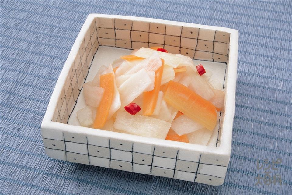大根とにんじんのさわやか漬け(大根+にんじんを使ったレシピ)