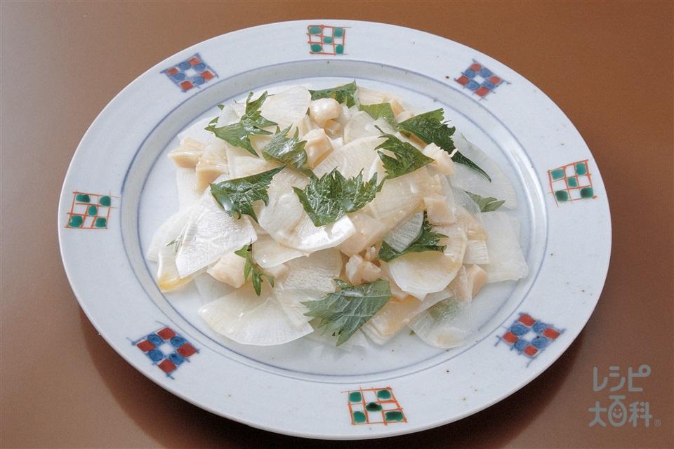 和風サラダ(大根+帆立貝柱の水煮缶を使ったレシピ)