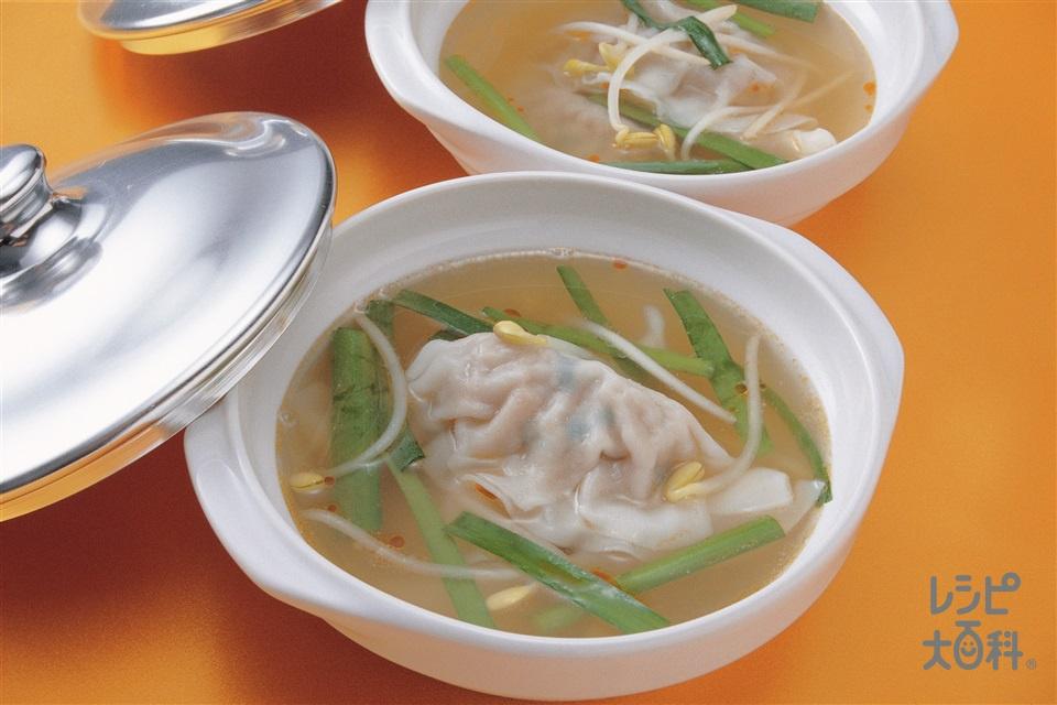 ギョーザスープ(大豆もやし+にらを使ったレシピ)