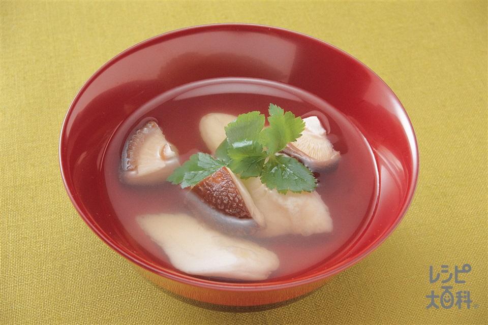 笹かまのすまし汁(笹かまぼこ+しいたけを使ったレシピ)