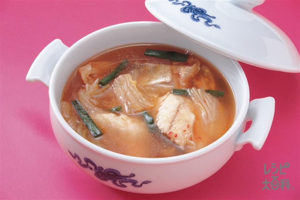たらのキムチスープ(たら+白菜キムチを使ったレシピ)