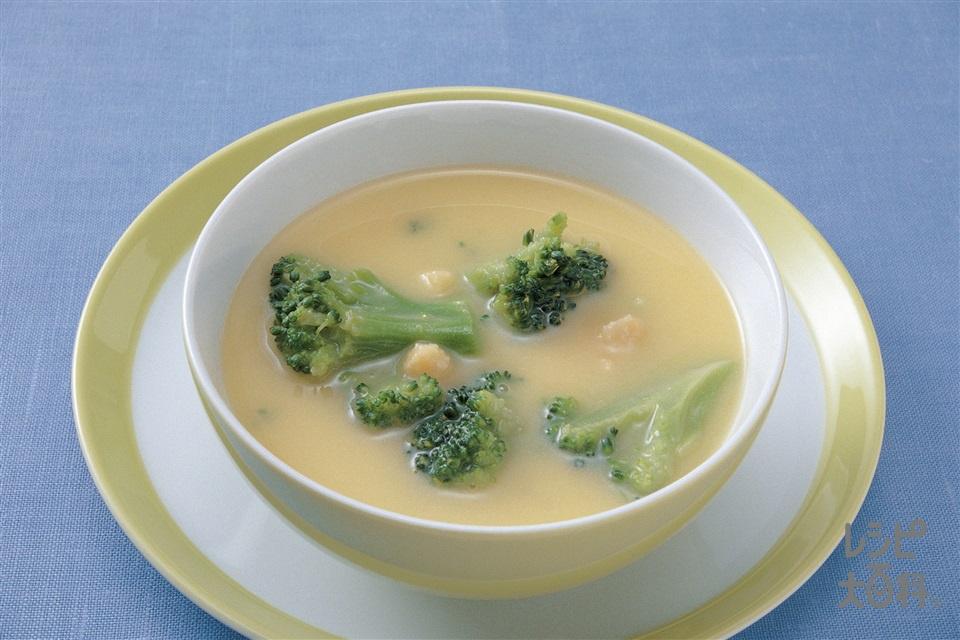 ブロッコリーのコーンクリームスープ(ブロッコリーを使ったレシピ)