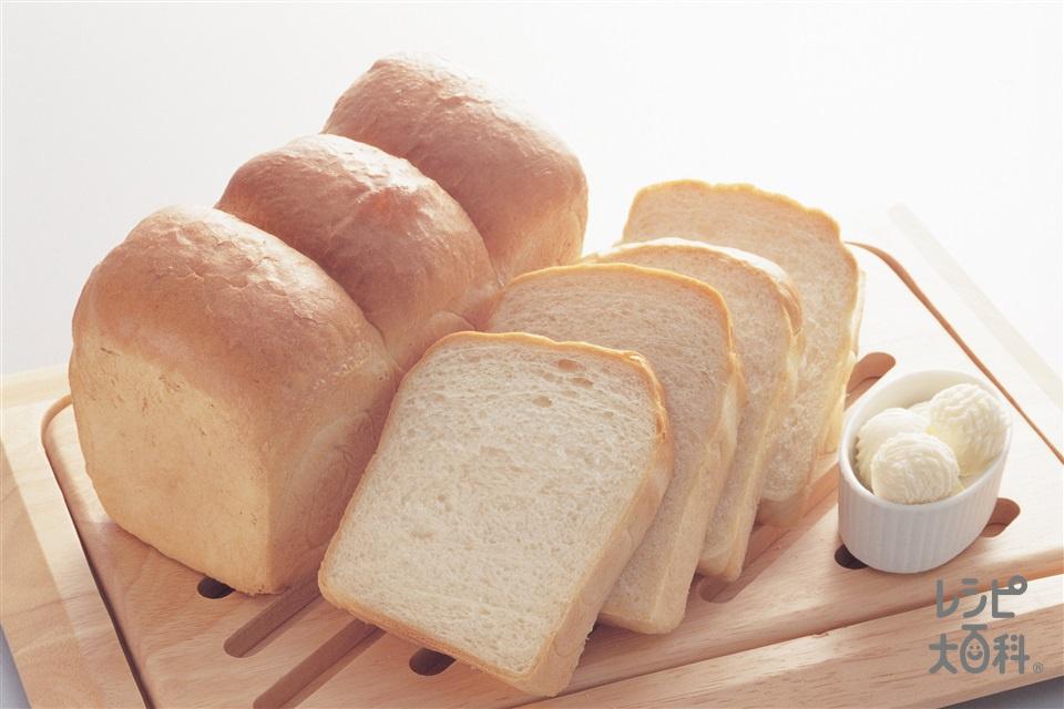 イギリスパン(強力粉+牛乳を使ったレシピ)