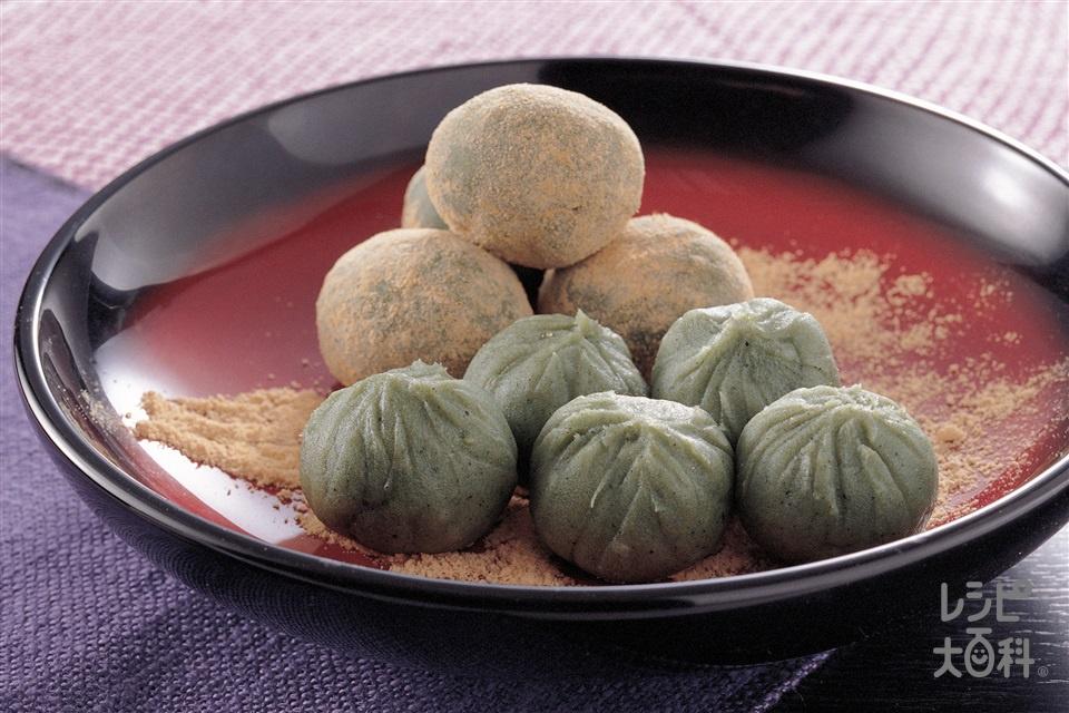 草もちのきなこかけ(あずき(乾)+上新粉を使ったレシピ)