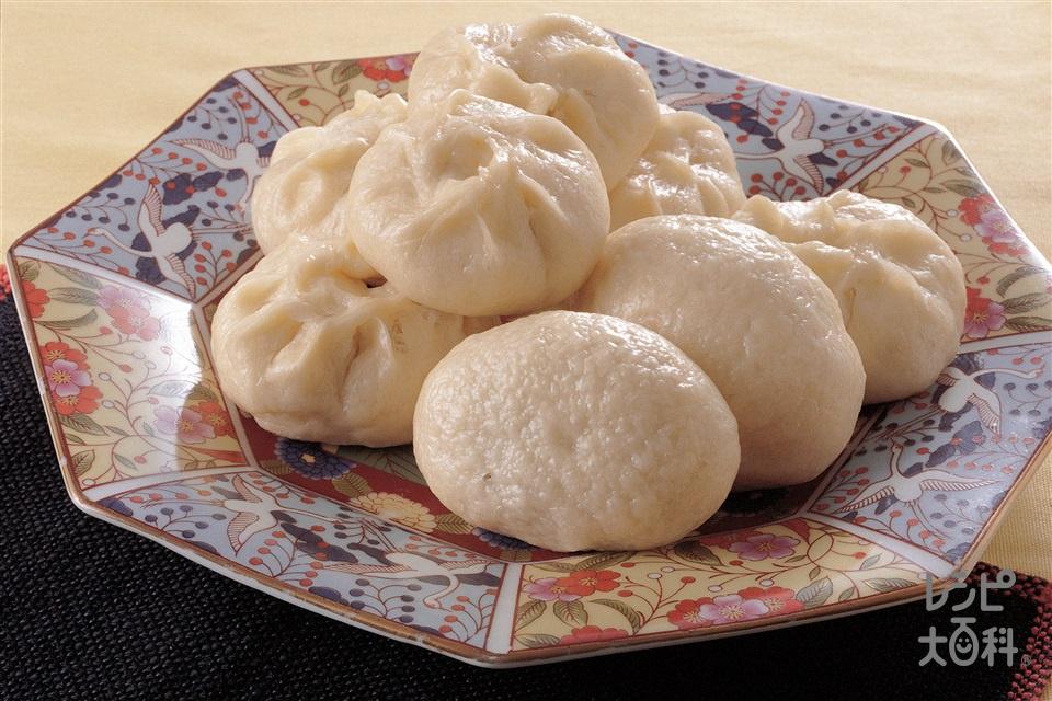 高菜入りまんじゅう(薄力粉+焼き豚を使ったレシピ)