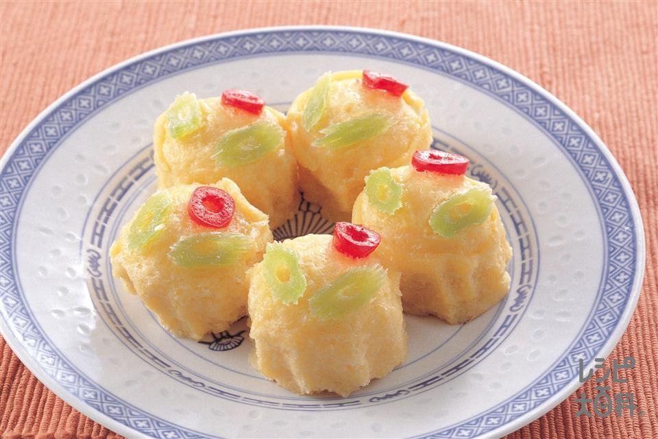 中国風蒸しカステラ(卵+砂糖を使ったレシピ)