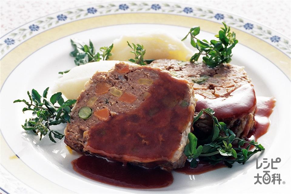 ミートローフ(牛ひき肉+玉ねぎのみじん切りを使ったレシピ)