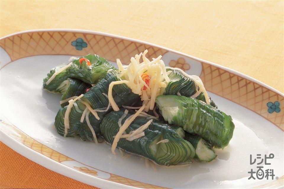 きゅうりの中国風甘酢漬け(きゅうり+しょうがを使ったレシピ)