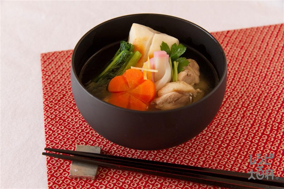 お雑煮(餅+小松菜を使ったレシピ)