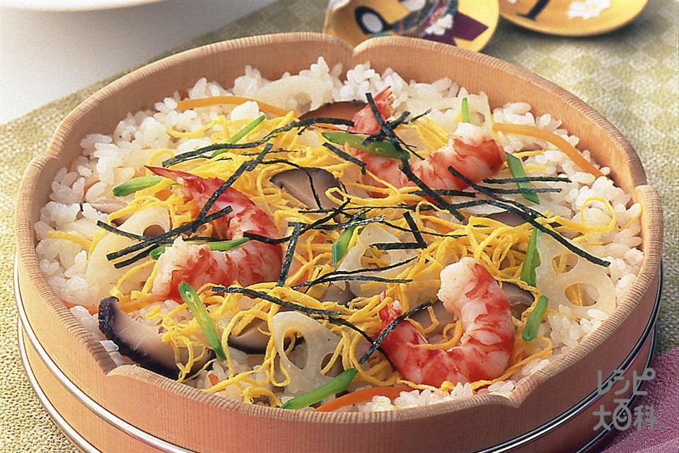 ちらしずし(米+A酢を使ったレシピ)