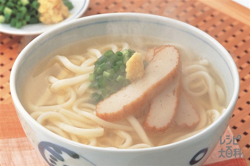 讃岐うどん(冷凍讃岐うどん+さつま揚げを使ったレシピ)