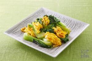 チンゲン菜と卵炒め
