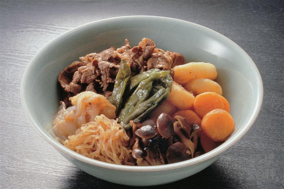 すき焼き風煮もの(牛もも薄切り肉+しらたきを使ったレシピ)