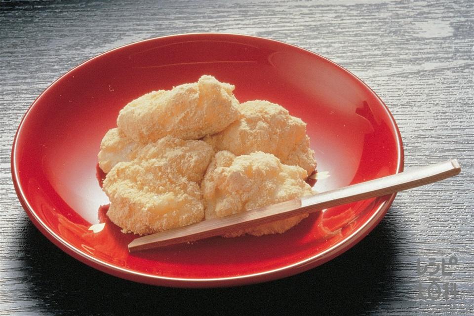 山いも餅のきな粉まぶし(山いも+餅を使ったレシピ)