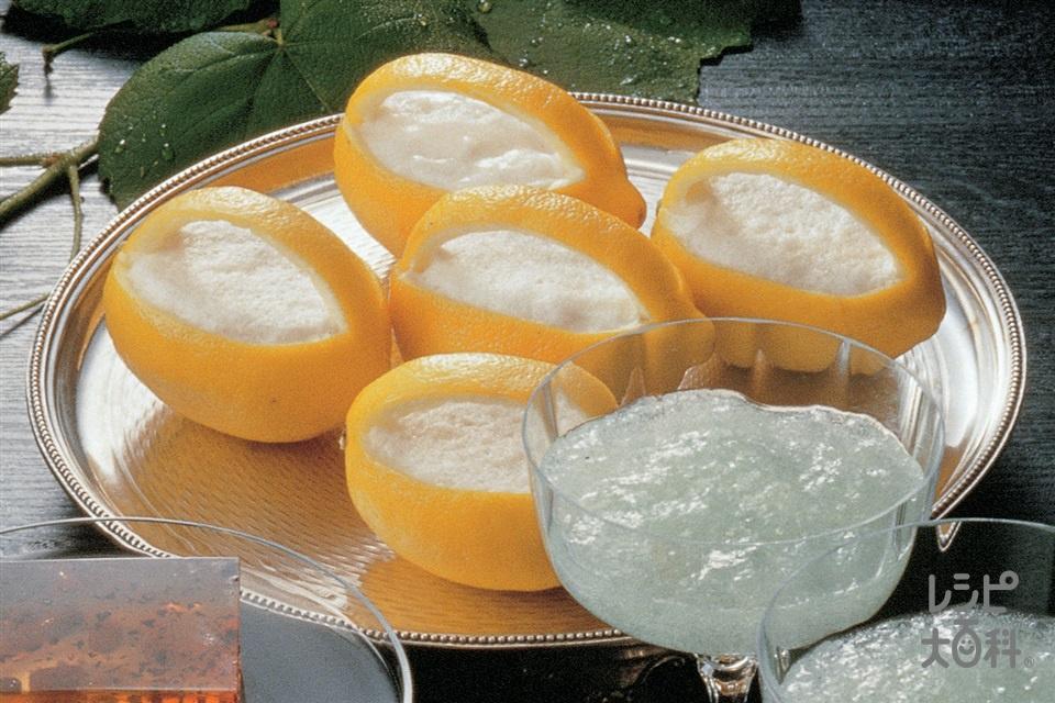 レモンのあわゆきかん(レモン+棒寒天を使ったレシピ)