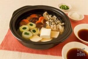 かき鍋(かき(むき身)+白菜を使ったレシピ)