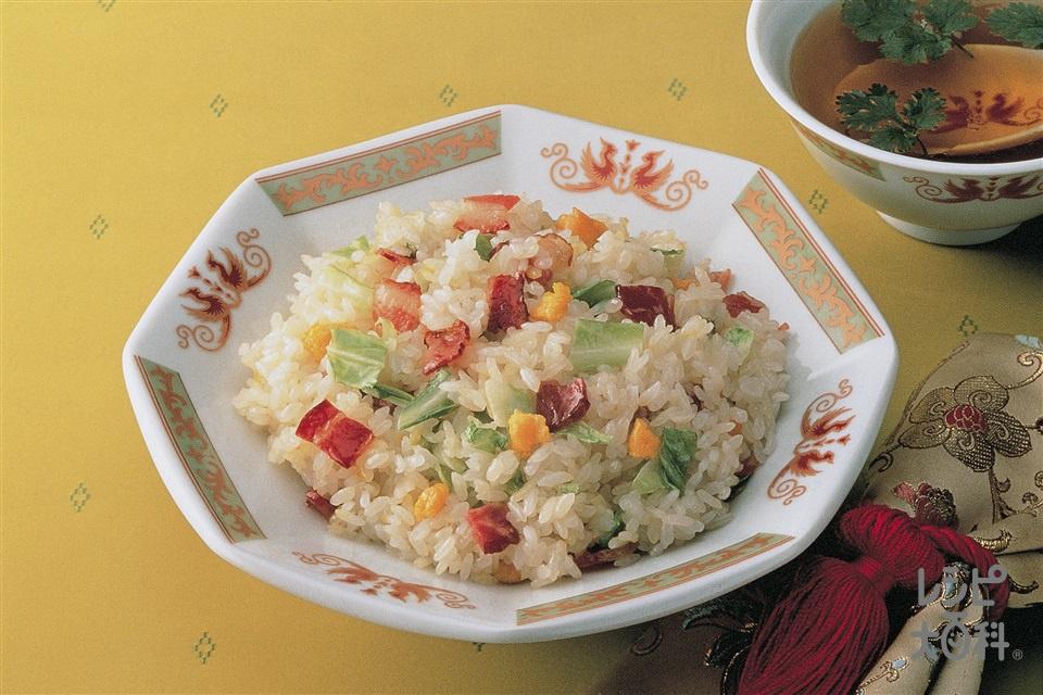 ベーコンとキャベツの卵チャーハン(ご飯+卵を使ったレシピ)