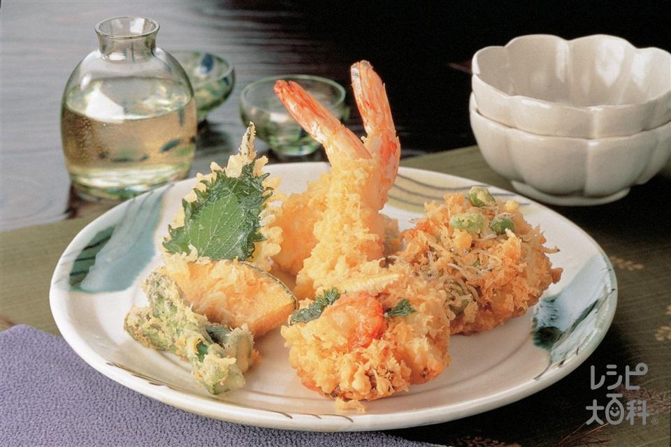 旬盛り天ぷら(ゆでたけのこ+小麦粉を使ったレシピ)