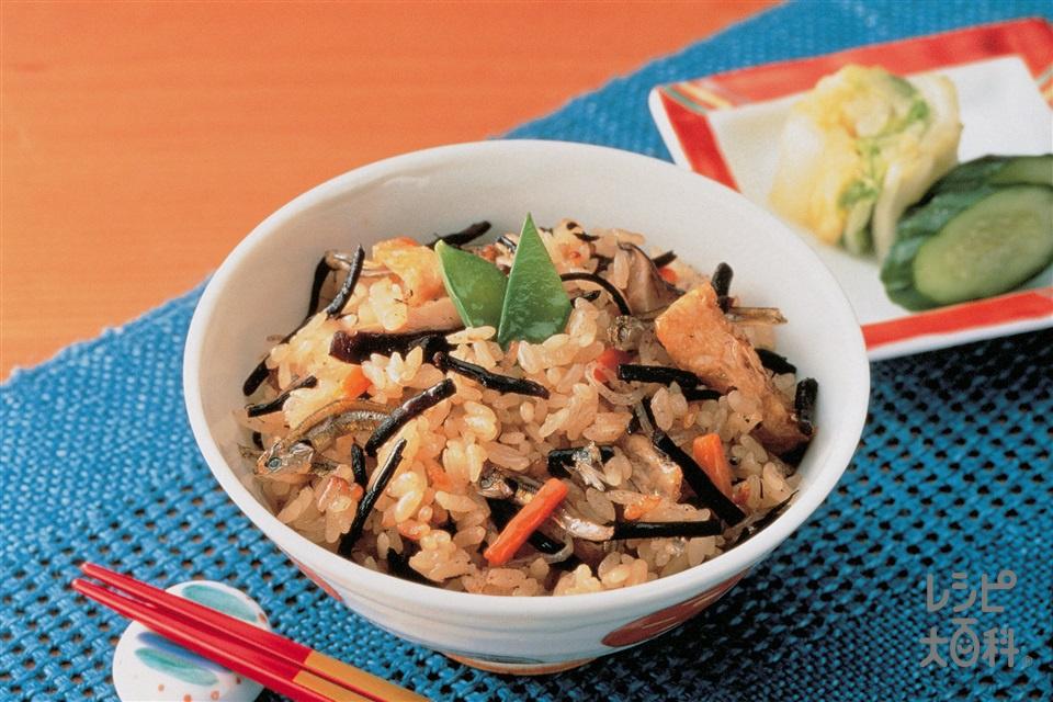 ひじきご飯(米+ひじきを使ったレシピ)